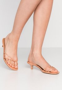 Who What Wear - ADDISON - T-bar sandals - peach/tan - 0