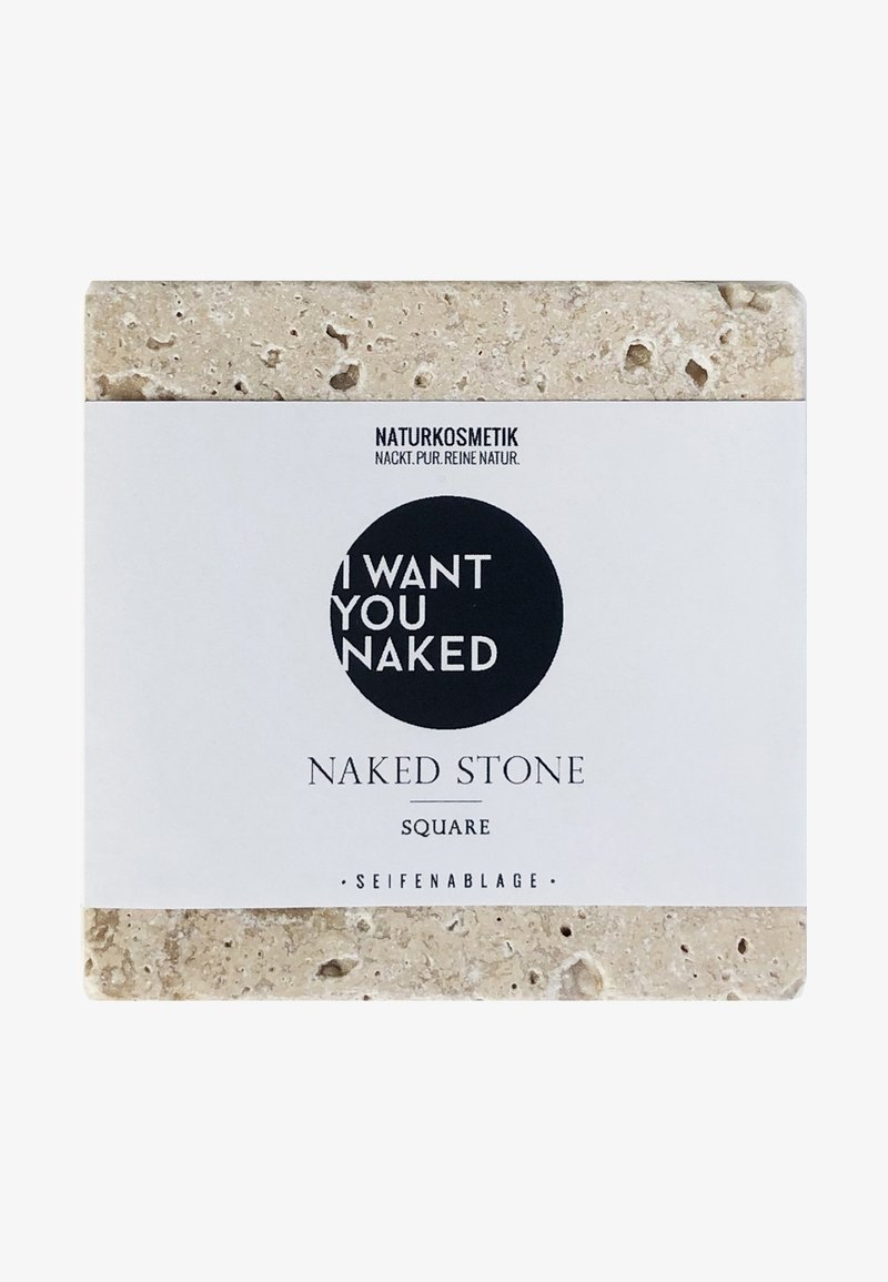 I WANT YOU NAKED - NAKED SOAPSTONE SQUARE - SEIFENABLAGE - Bath & body - -