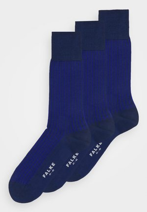 OXFORD STRIPE 3 PACK - Strumpor - cobalt