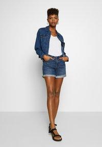 Vero Moda - VMULRIKKA JACKET MIX  - Denim jacket - medium blue denim - 1