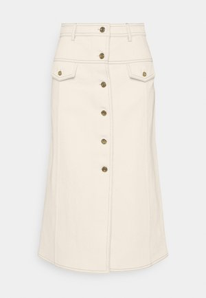 BUTTON DOWN SKIRT - A-line skirt - offwhite