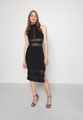HERVE LEGER X JULIA RESTOIN ROITFELD HALTER COLUMN DRESS - Koktejlové šaty/ šaty na párty - black