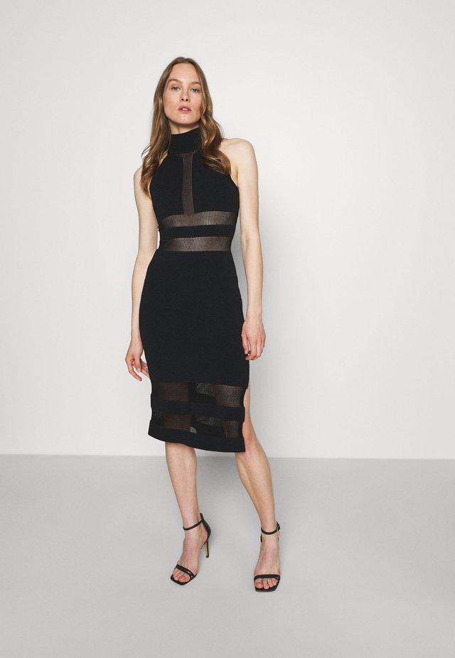 HERVE LEGER X JULIA RESTOIN ROITFELD HALTER COLUMN DRESS - Cocktailjurk - black