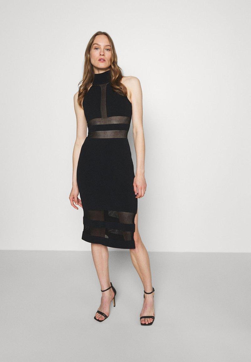 Hervé Léger - HERVE LEGER X JULIA RESTOIN ROITFELD HALTER COLUMN DRESS - Cocktail dress / Party dress - black