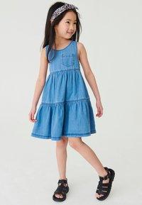 Next - Day dress - blue denim - 0