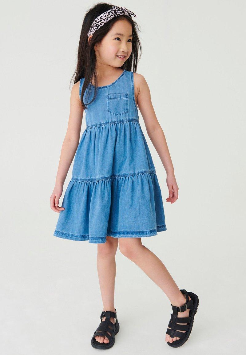 Next - Day dress - blue denim