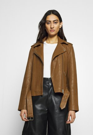 JACKET - Leather jacket - toffee