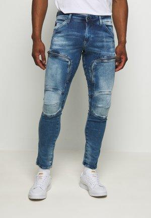 AIR DEFENCE ZIP SKINNY - Jeans Skinny - sun faded azurite