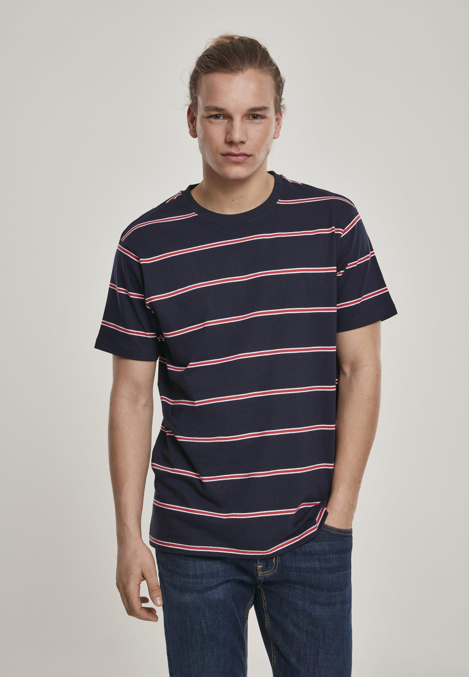 Homme YARN DYED SKATE STRIPE - T-shirt imprimé