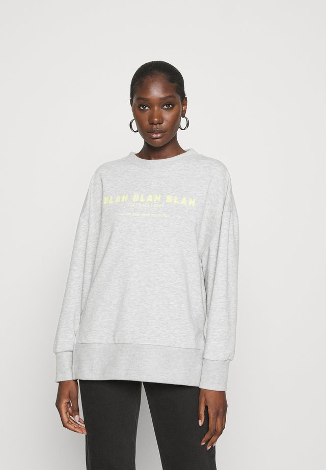 BLAH PRINTED - Sweatshirt - light grey melange