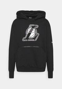 Nike Performance - NBA LA LAKERS LOGO HOODIE - Klubbkläder - black - 6