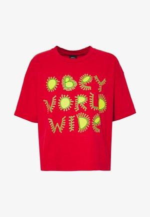 COME TOGETHER - Print T-shirt - tomato