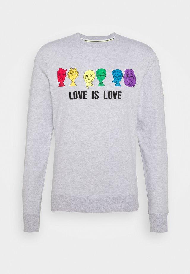UNISEX PRIDE JARVIS - Sweatshirt - light grey melange