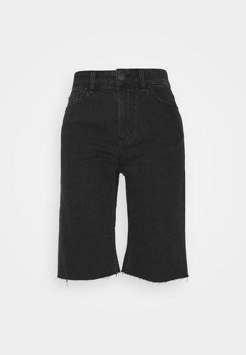 ONLEMILY RAW - Shorts di jeans - black