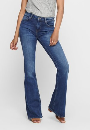 ONLCHERYL - Flared jeans - dark blue denim