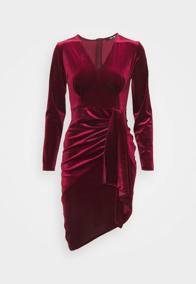 MIDI DRESS - Cocktail dress / Party dress - burguny