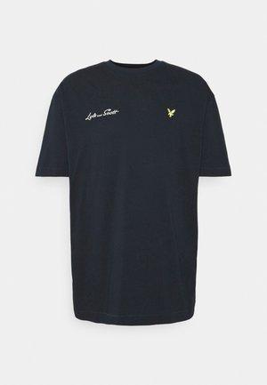EMBROIDERED LETTER - Basic T-shirt - dark navy