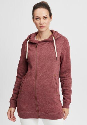 VICKY  - Zip-up sweatshirt - wine r mel