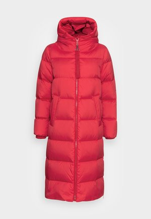 PUFFER COAT FIX HOOD WELT POCKETS BACKPACK STRAPS  - Down coat - bright pomegranate
