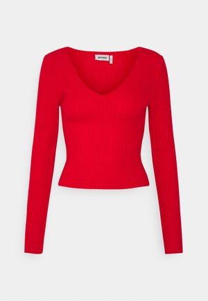 PAOLINA V NECK - Pullover - red