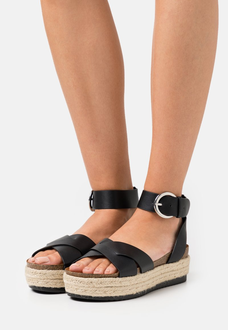 ONLY SHOES - ONLMAUVE WRAP  - Korkeakorkoiset sandaalit - black