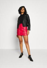 River Island - Faux leather jacket - black - 1