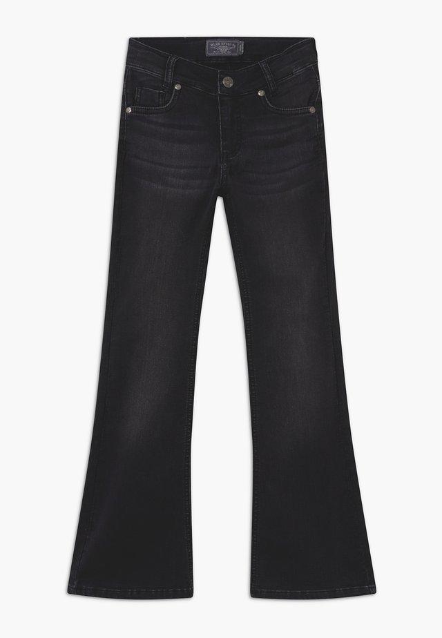 GIRLS FLARED - Jeans bootcut - black denim