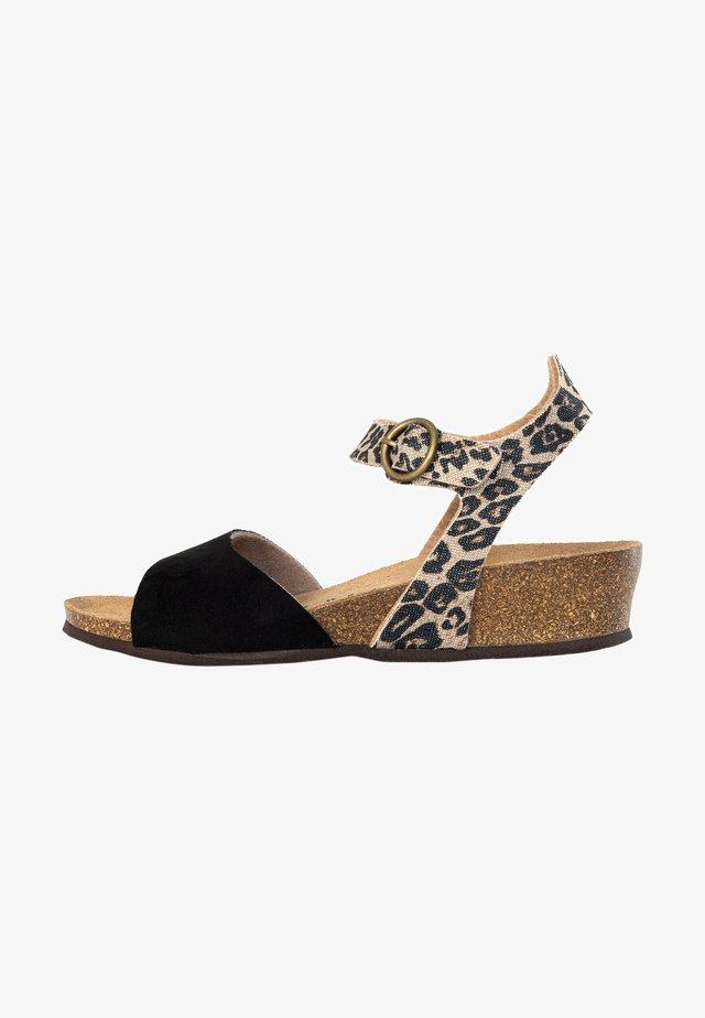 Sandales compensées - brown