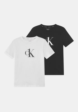 2 PACK - Undershirt - black/white