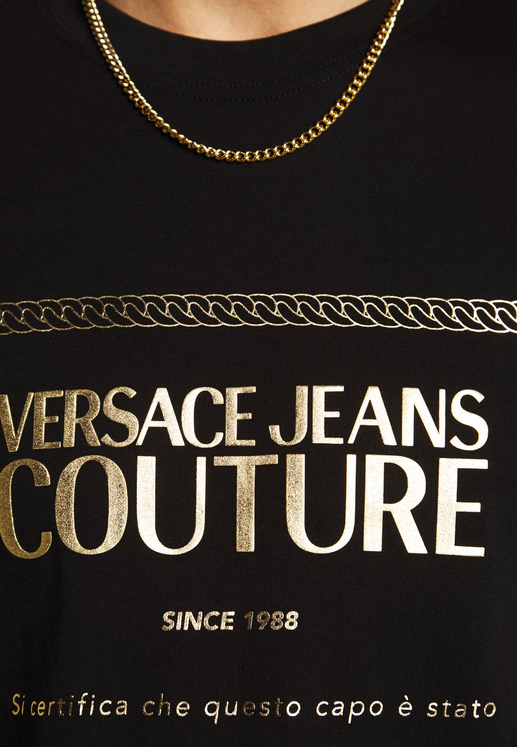 Versace Jeans Couture T-shirts med print - black/gold