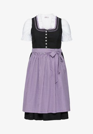 Dirndl - schwarz-lila
