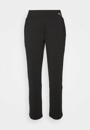 STRAIGHT LEG PANTS - Verryttelyhousut - black