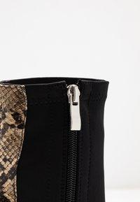 RAID - OLINIA - High heeled ankle boots - black/beige - 2