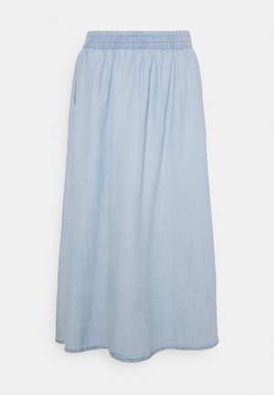 PCGEYA MIDI SKIRT - Denim skirt - light blue denim