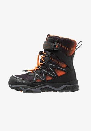 LIZARD SYMPATEX - Stivali da neve  - black/orange