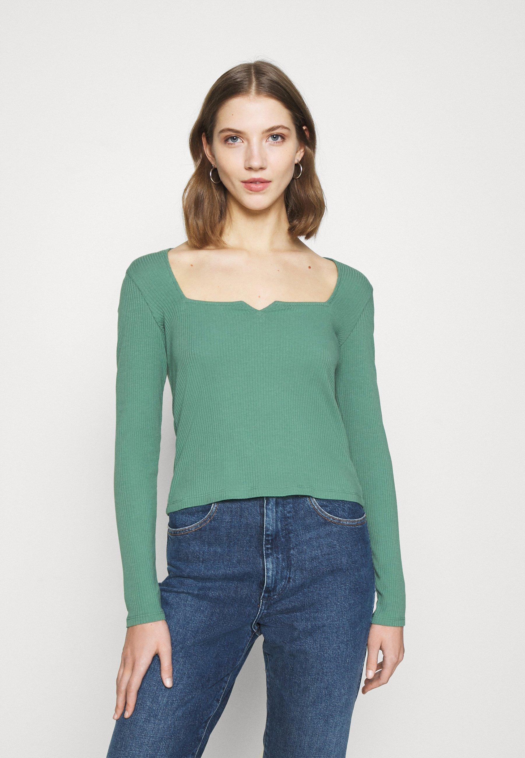 Women NONNA  - Long sleeved top - green