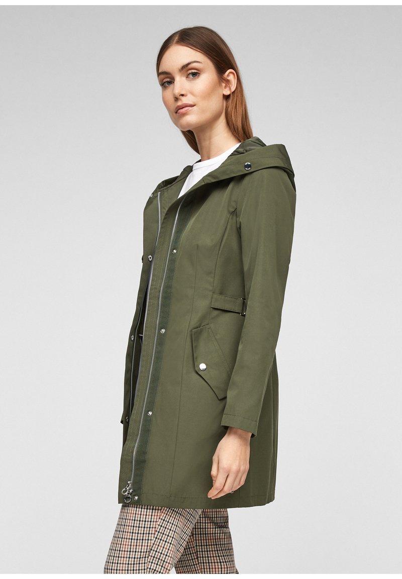 s.Oliver - MIT TAILLIERUNG - Short coat - khaki