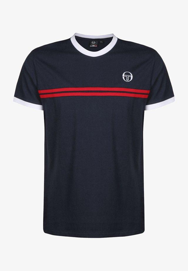 SUPERMAC - Camiseta estampada - navy/red