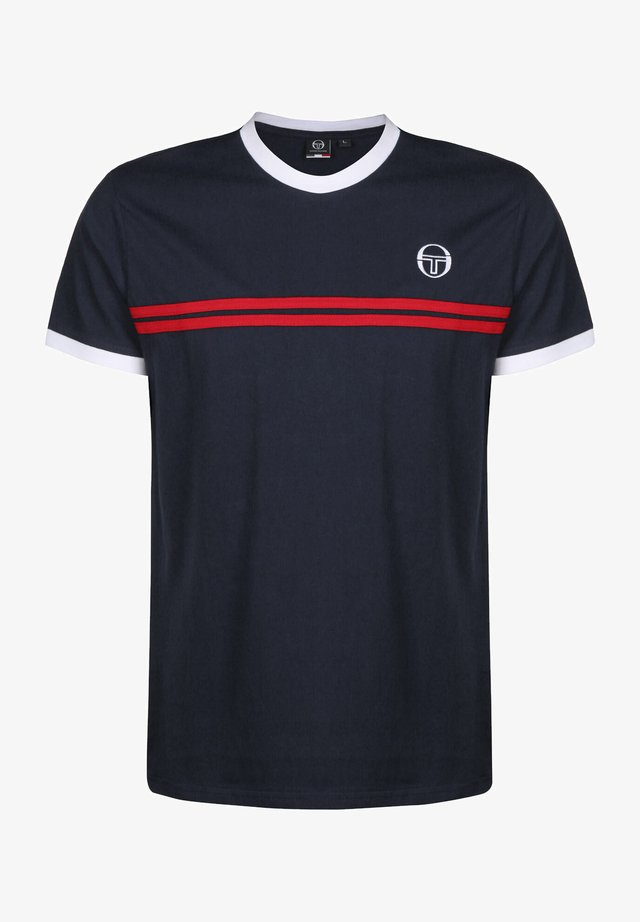 SUPERMAC - T-shirt print - navy/red