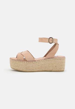 PRAIDY - Platform sandals - taupe
