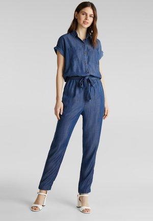 DENIM OVERALL - Jumpsuit - blue dark washed