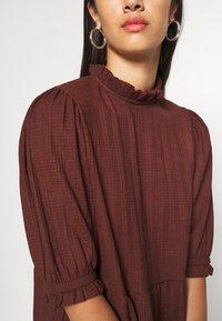 ONLY - ONLZILLE HIGHNECK DRESS - Shirt dress - bitter chocolate - 6