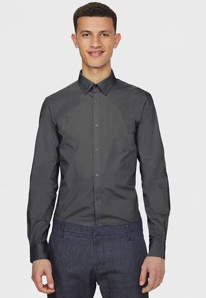 SLIM FIT STRETCH - Shirt - grey