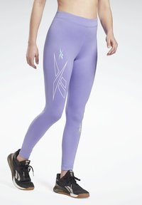 Reebok - MYT HIGH RISE LEGGINGS - Leggings - purple - 0