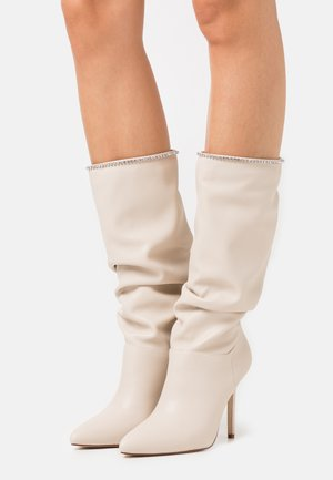 SHORE - High heeled boots - white