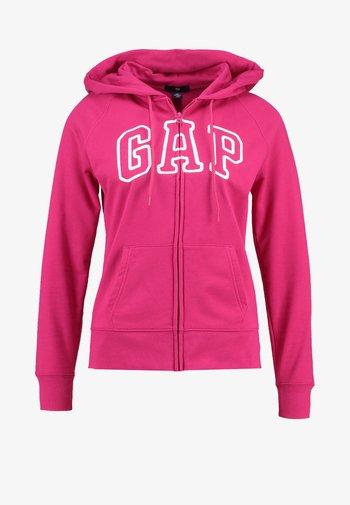 Zip-up sweatshirt - lipstick