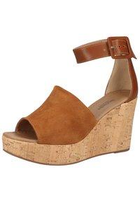 NeroGiardini - Wedge sandals - tabacco - 1