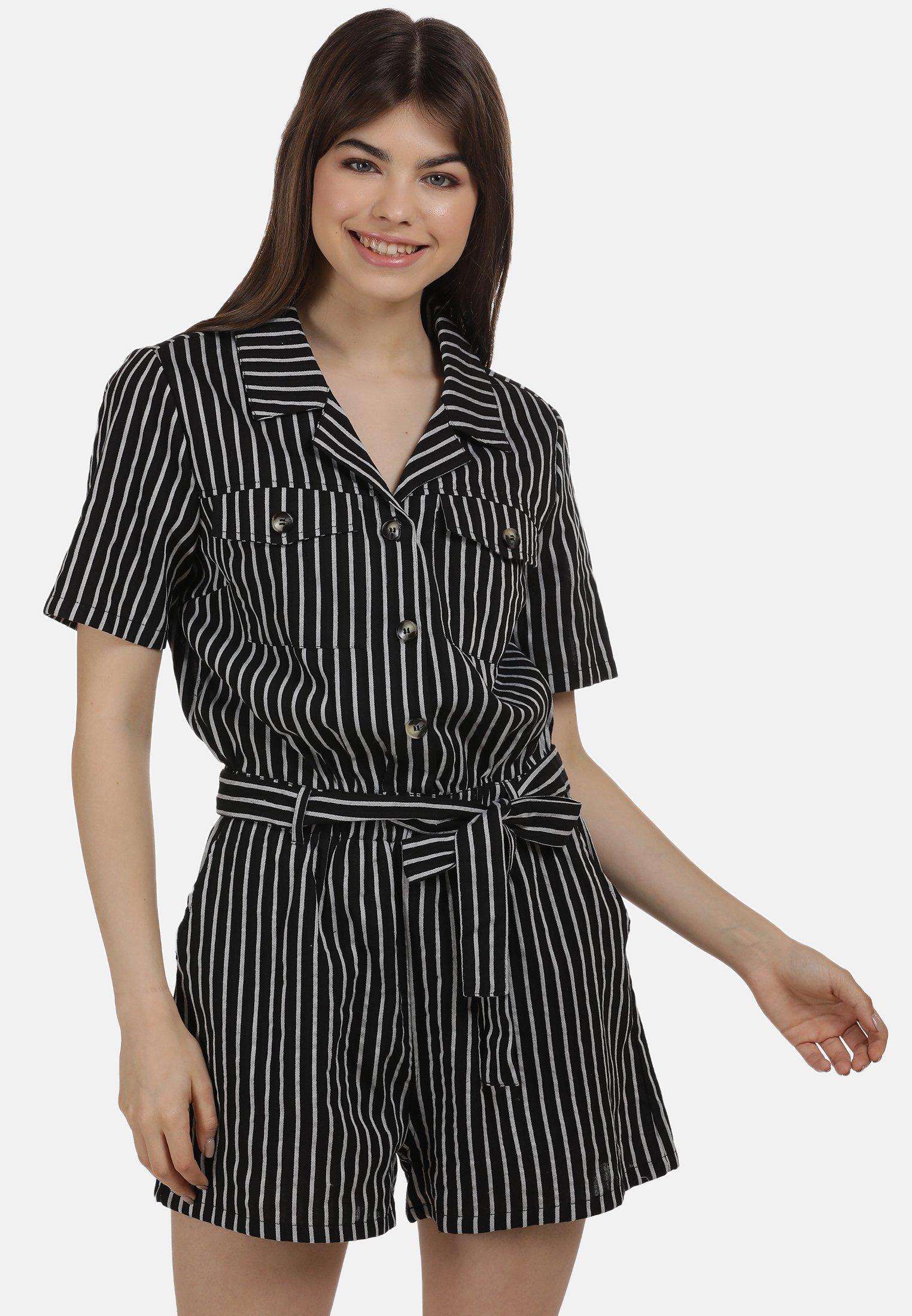 Online Shop Women's Clothing myMo JUMPER Jumpsuit schwarz weiss zzMGAIMqr