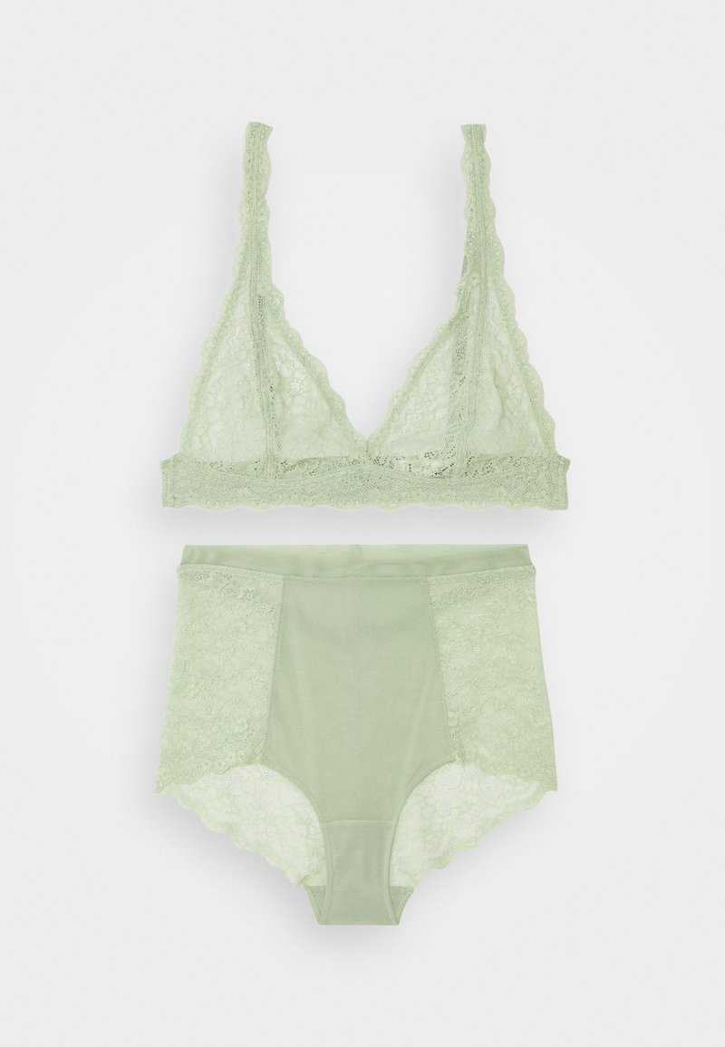 Monki - HIGHWAIST SET - Triangle bra - green light