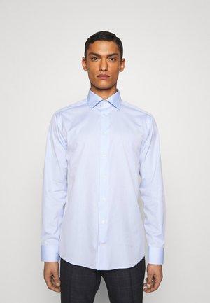 Slim Fit - Mushroom Print Poplin Shirt  - Zakelijk overhemd - blue